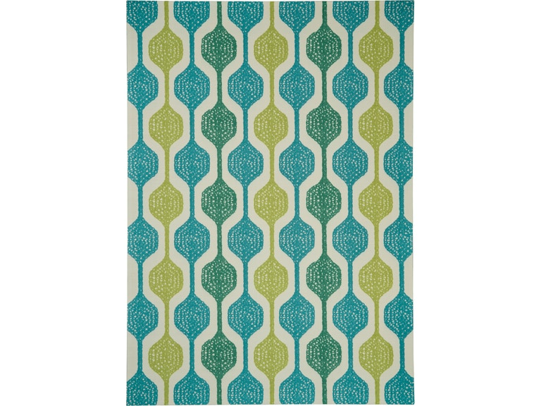 Waverly Sun N Shade Snd70 Blue And Green 10 X13 Oversized