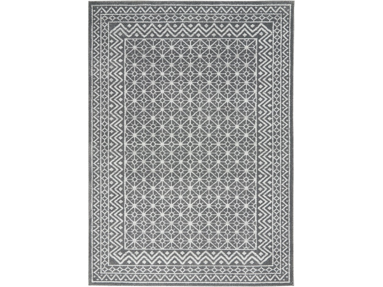 Nourison Floor Coverings Palermo Pmr02 Charcoal Silver Area