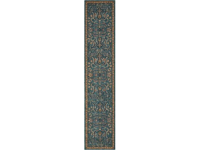 Floor Coverings Nourison 2020 Teal Area Rug 099446363909