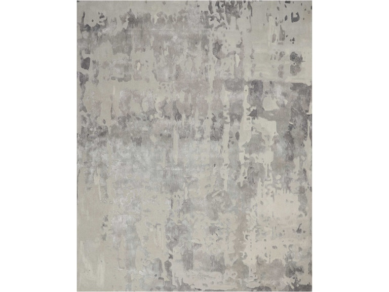 Nourison Floor Coverings Prismatic 8 X10 Silver Grey Abstract Area Rug 099446138781 Grossman Furniture Philadelphia Pa