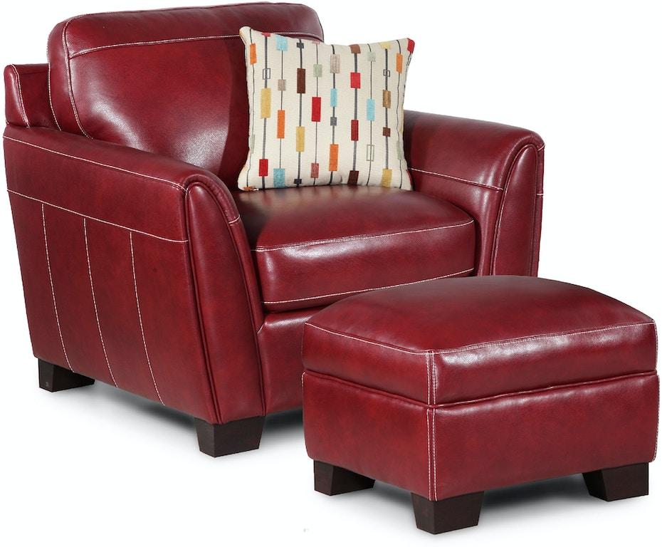 Simon Li Living Room Chair With One Fabric Pillow