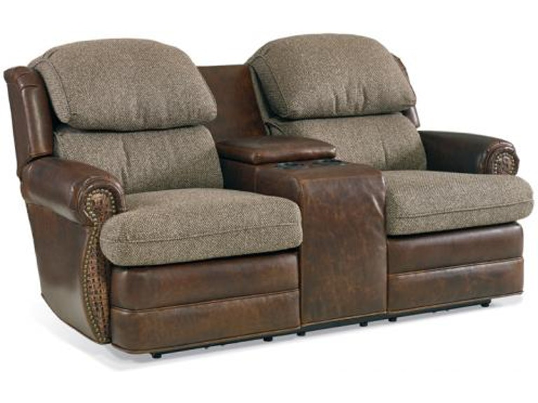 Motion Craft Home Entertainment Casey Dual Reclining Console Sofa