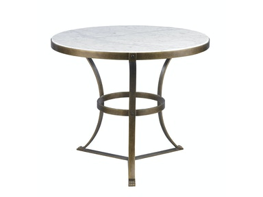 Lillian August for Hickory White Piers Side Table - Aged Gold LA13321-01
