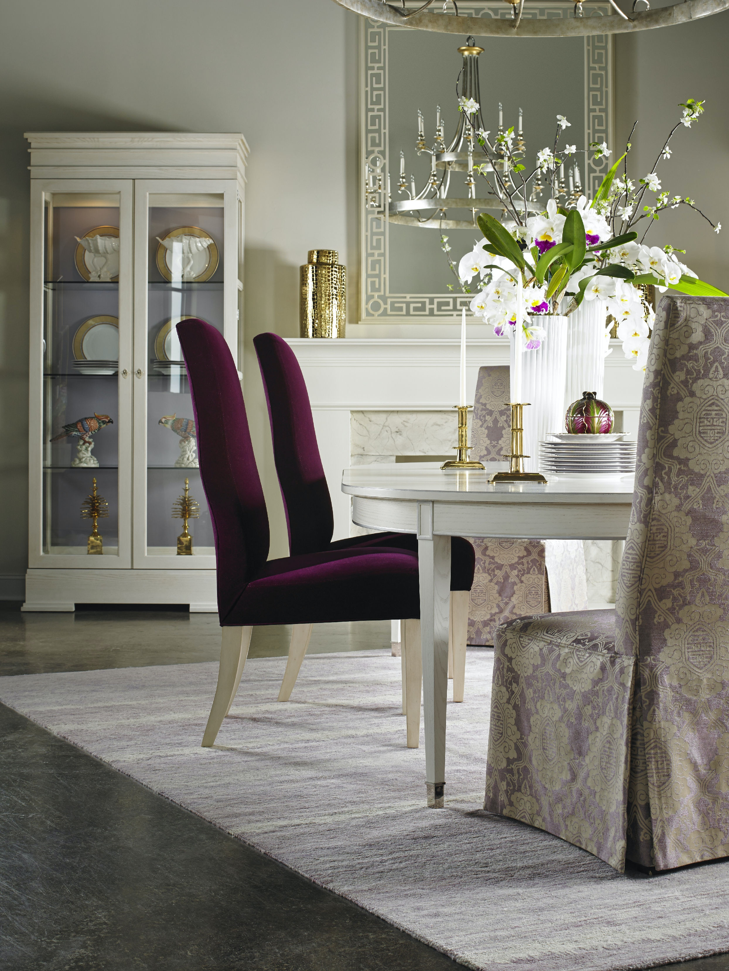 Lillian August For Hickory White Sutton Oval Dining Table LA99011