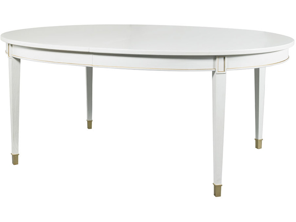 Lillian august for hickory white dining room sutton oval for White oval dining room table