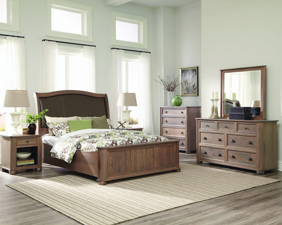 Palettes By Winesburg Bedroom Upholstered Bed With Low Footboard 03123 Woodchucks Fine
