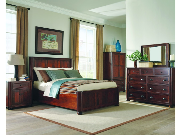 Palettes By Winesburg Bedroom Kingsport Panel Bed With Right Side Drawers At Love S Bedding And Furniture