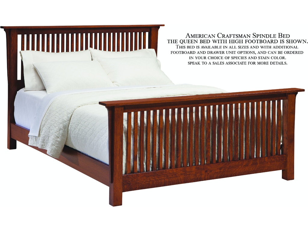 Palettes By Winesburg Bedroom Spindle Bed With High Footboard 09113 Marty Raes Of Lexington