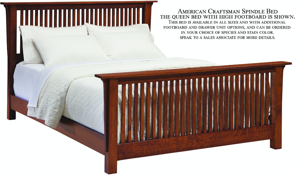 Palettes By Winesburg Bedroom Spindle Bed With High