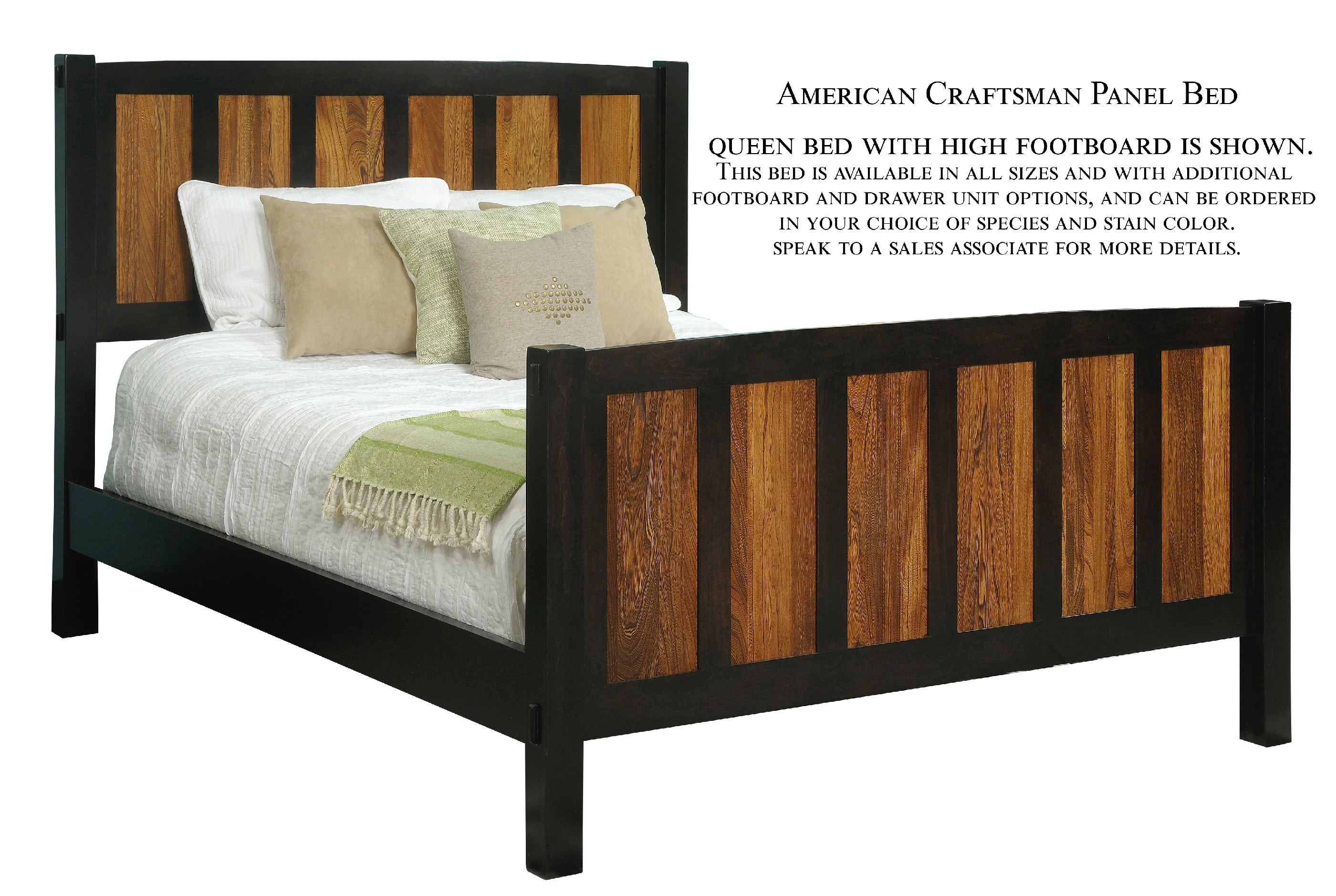 Etonnant Palettes By Winesburg Panel Bed With High Footboard 09412