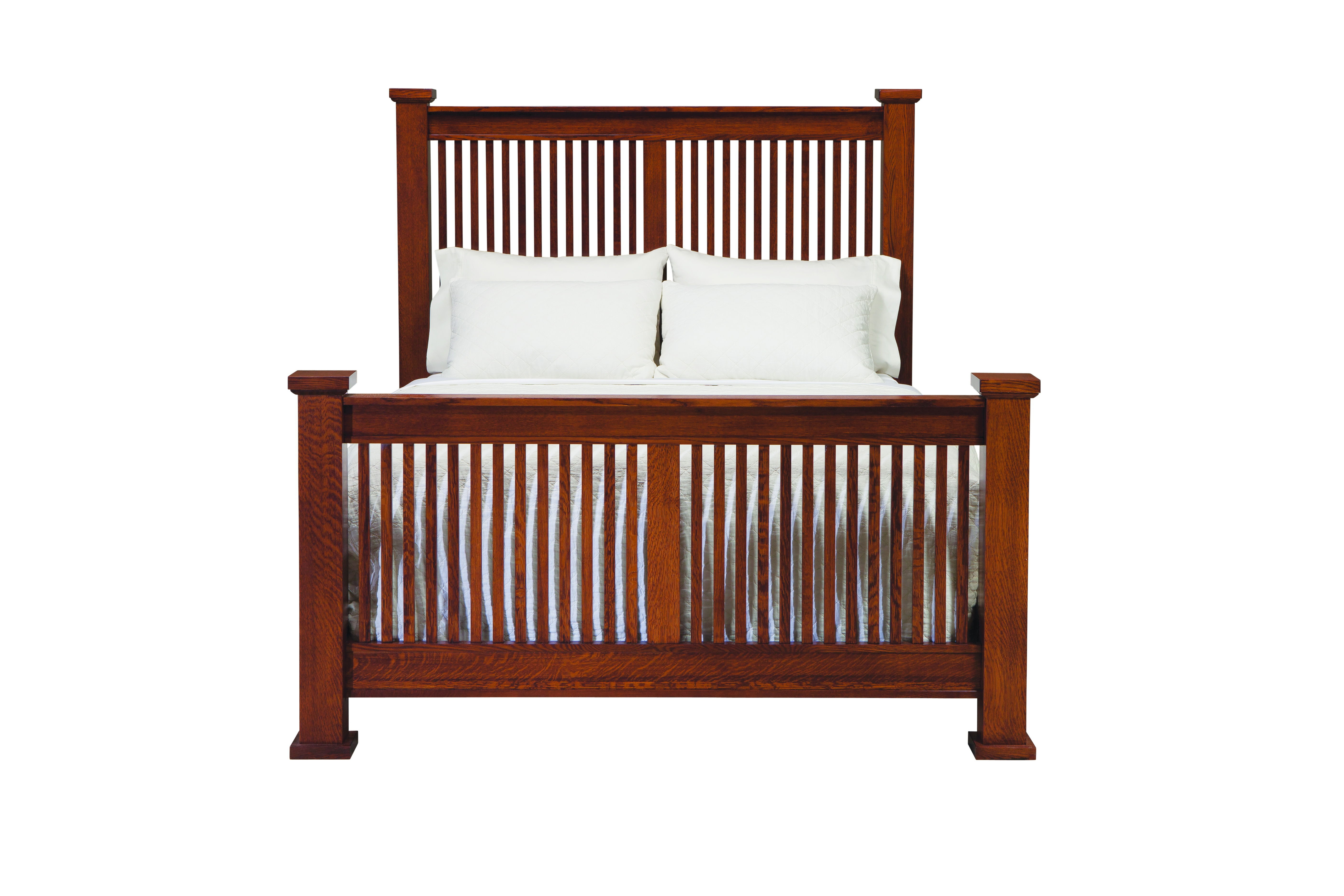 palettes by winesburg american craftsman prairie spindle bed with high footboard from walter e smithe - Spindle Bed