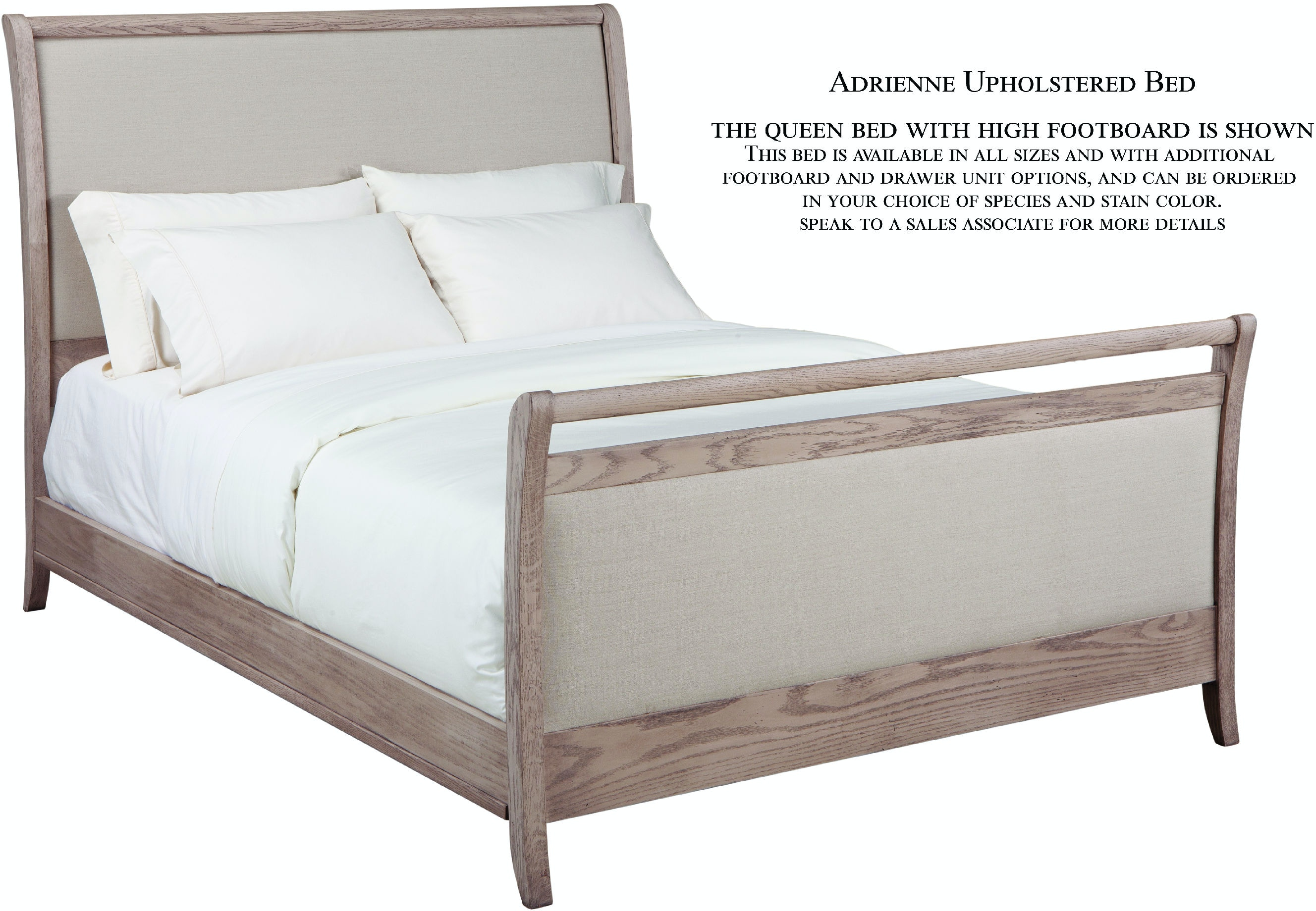Palettes By Winesburg Bedroom Upholstered Bed With Rails