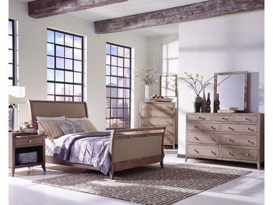 Palettes By Winesburg Bedroom Upholstered Bed With High