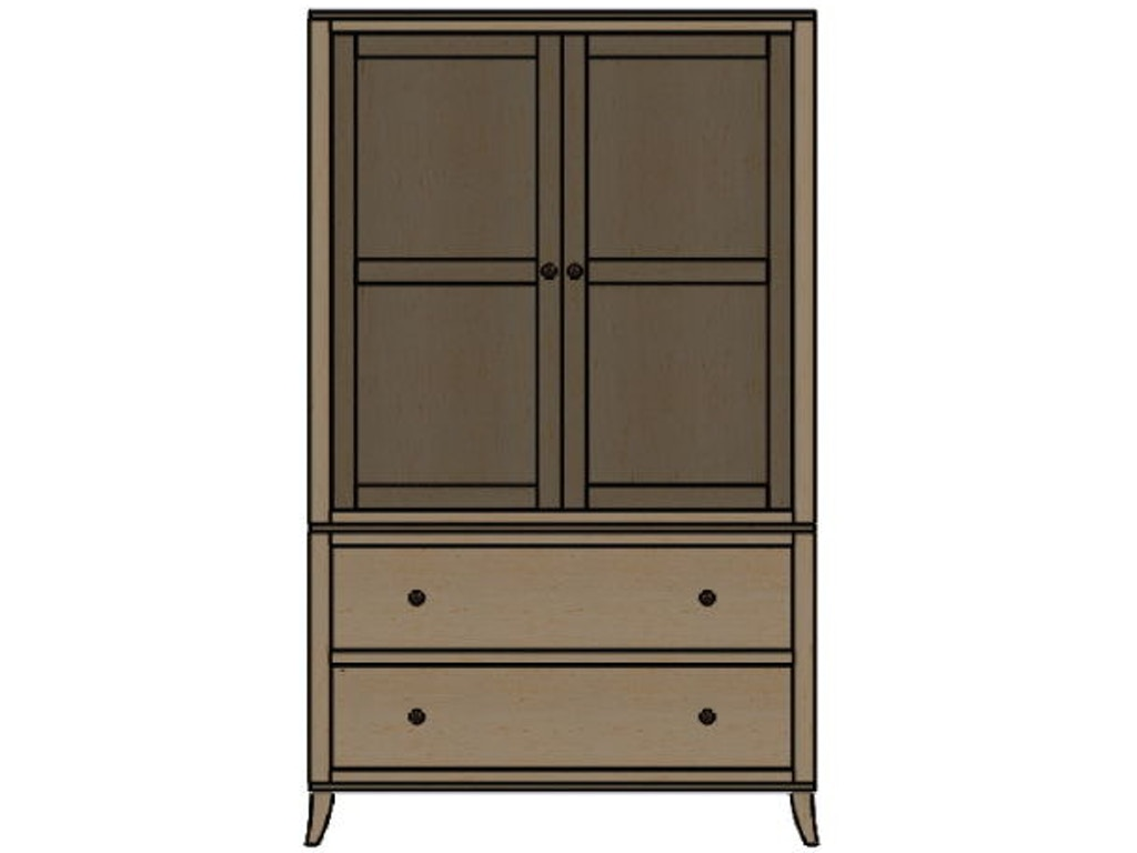 palettes by winesburg bedroom armoire 10254 klopfenstein. Black Bedroom Furniture Sets. Home Design Ideas