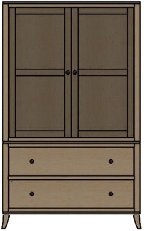 palettes by winesburg bedroom armoire 10254 art sample. Black Bedroom Furniture Sets. Home Design Ideas