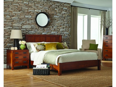 Palettes by Winesburg Panel Bed with Low Footboard American Craftsman Panel Bed with Low Footboard