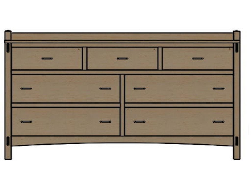 Palettes By Winesburg Bedroom Dresser 1 09247 Woodchucks