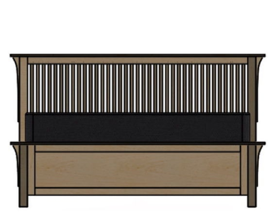 Palettes By Winesburg Spindle Bed With Low Footboard 09122