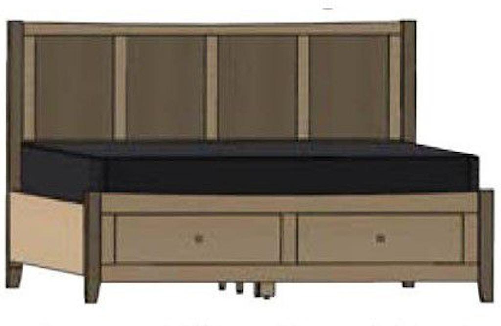 Sensational Palettes By Winesburg Bedroom Atwood Panel Bed With Drawers Inzonedesignstudio Interior Chair Design Inzonedesignstudiocom