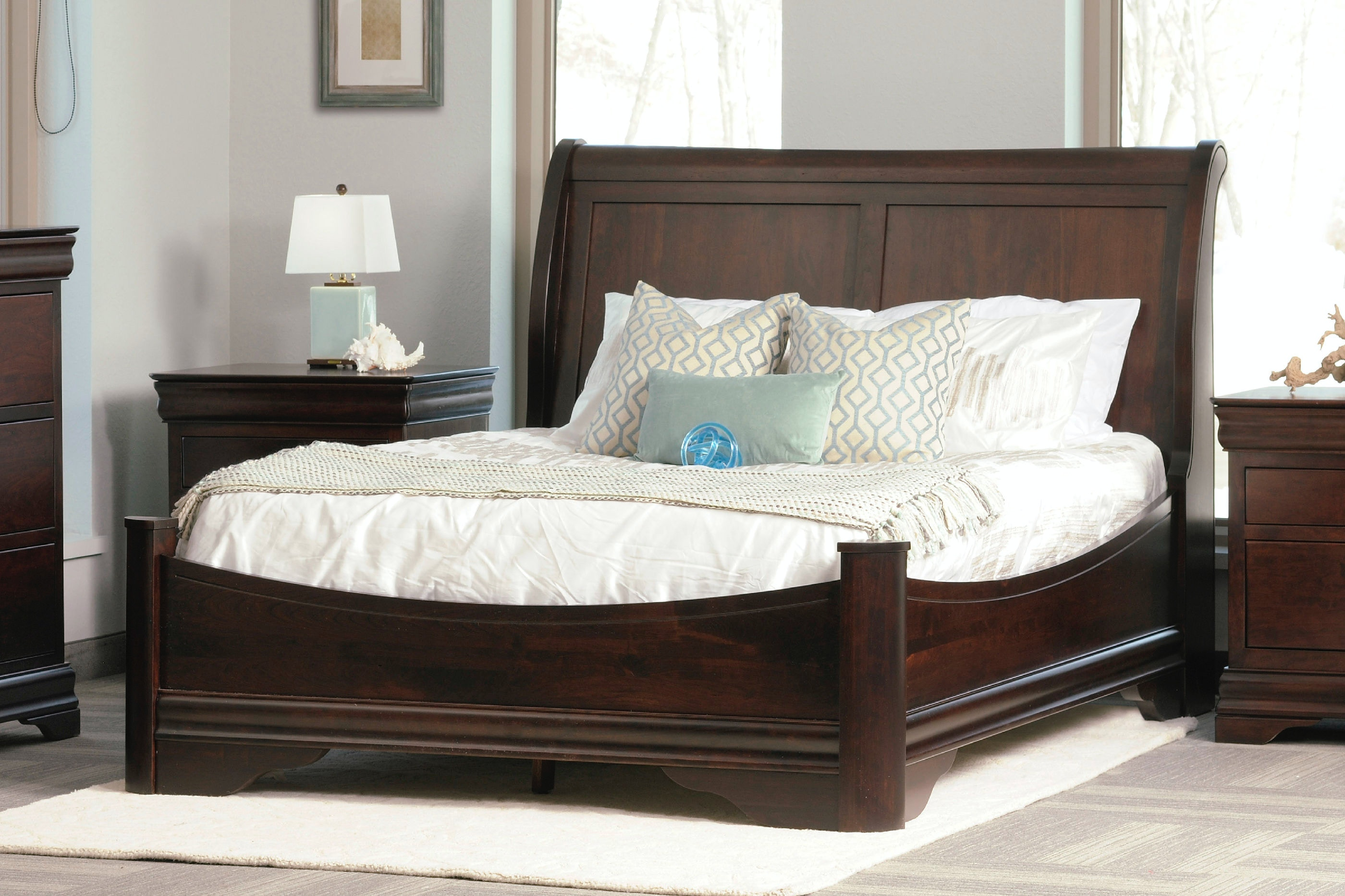 Avignon Bedroom Furniture Decor Adorable Avignon Sleigh Panel Bed With Low Footboard Design Decoration