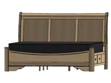 eleanor sleigh bed with elegant curved side rails | Palettes by Winesburg Bedroom Avignon Sleigh Panel Bed ...
