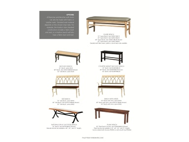 "Palettes by Winesburg 48"" Side Bench 48BEN"