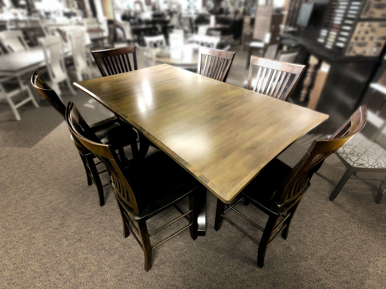 Palettes By Winesburg Dining Room Concave Shaped Table Top 4848F0 At Warehouse Showrooms