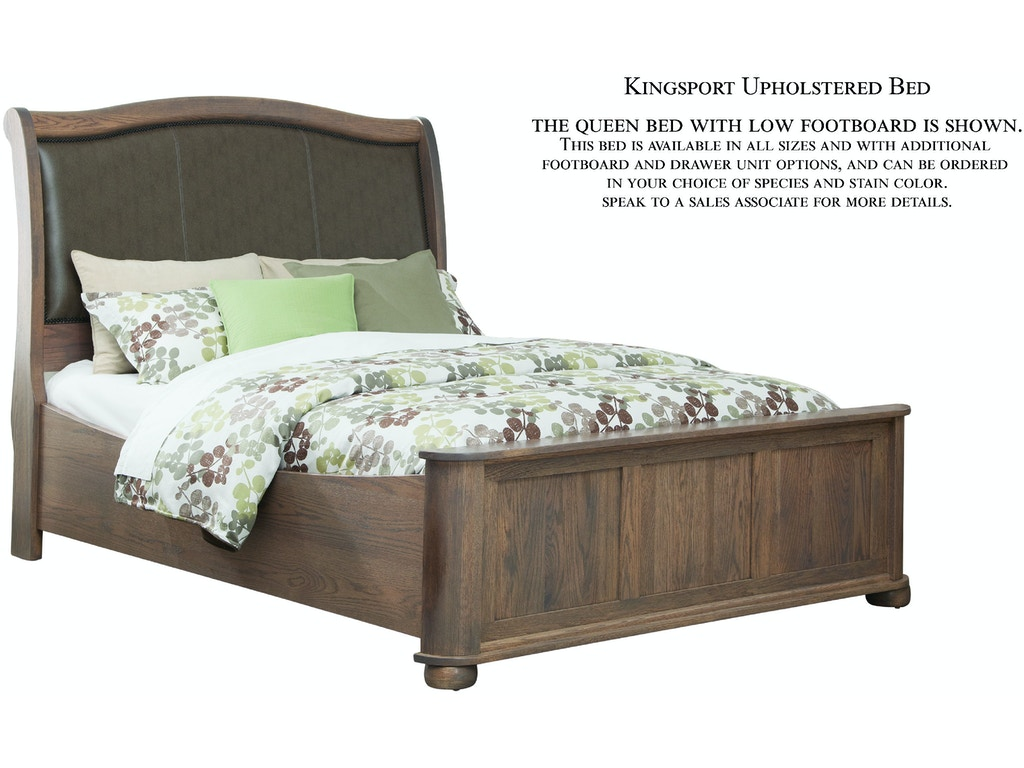 Palettes By Winesburg Bedroom Upholstered Bed With Low Footboard 03123 Treeforms Furniture