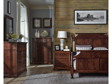 Palettes by Winesburg Cannonball Bed with Left Side Drawers Longmeadow Cannonball Bed with Left Side Drawers