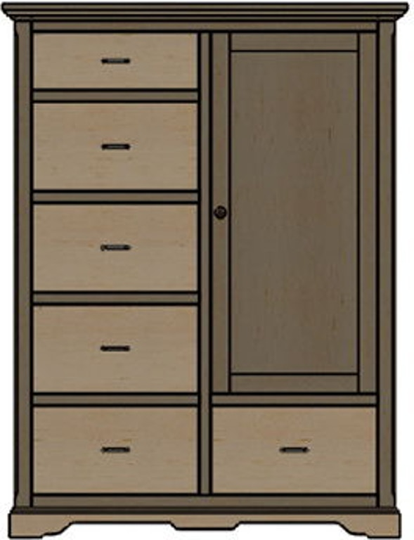 Palettes By Winesburg Bedroom Chifferobe 1 Lmw11256 La Waters Furniture Statesboro Ga