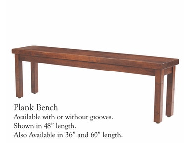 Palettes by Winesburg Plank Side Bench 60BENGR