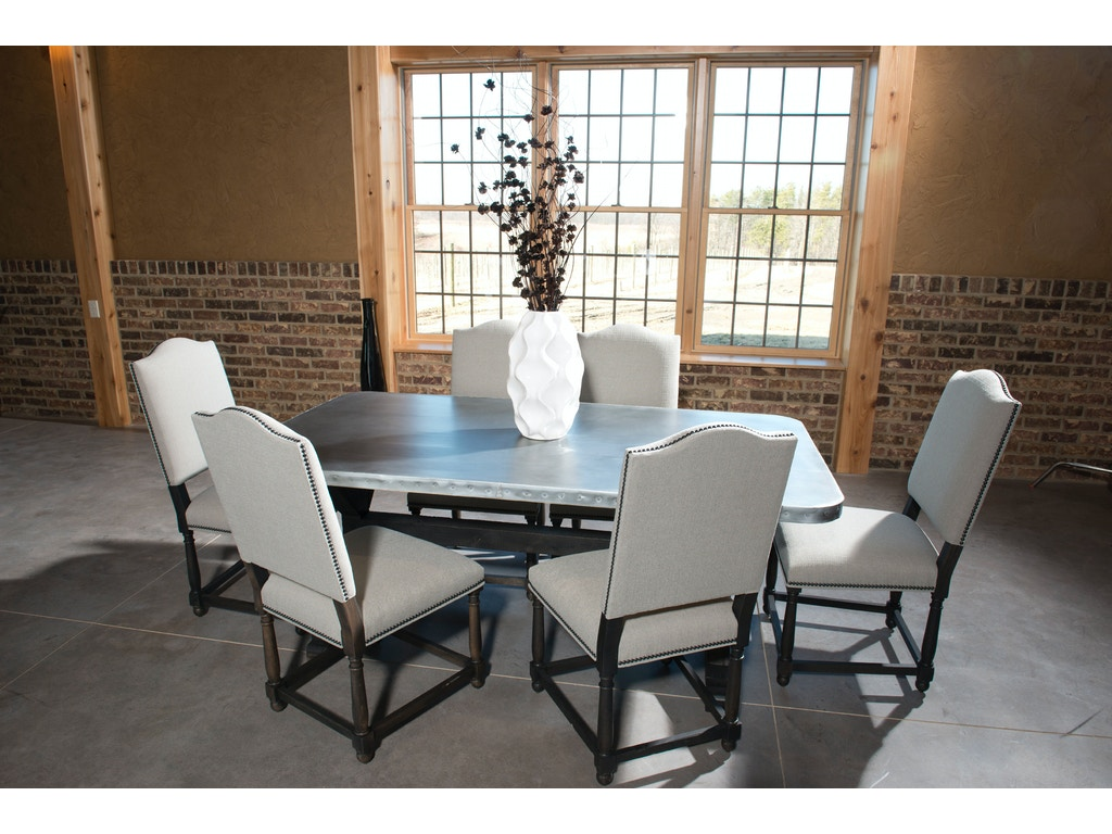 Palettes By Winesburg Dining Room Rectangular Zinc Table