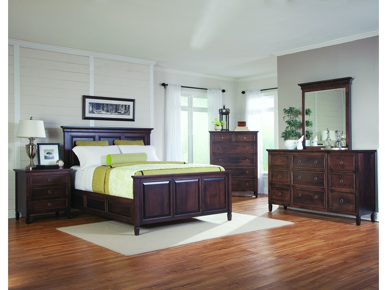 Palettes By Winesburg Bedroom Panel Bed With High