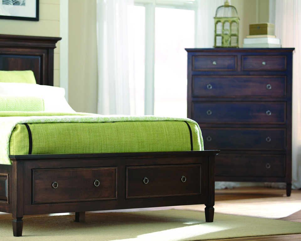 Palettes By Winesburg Bedroom Panel Bed With Drawers On