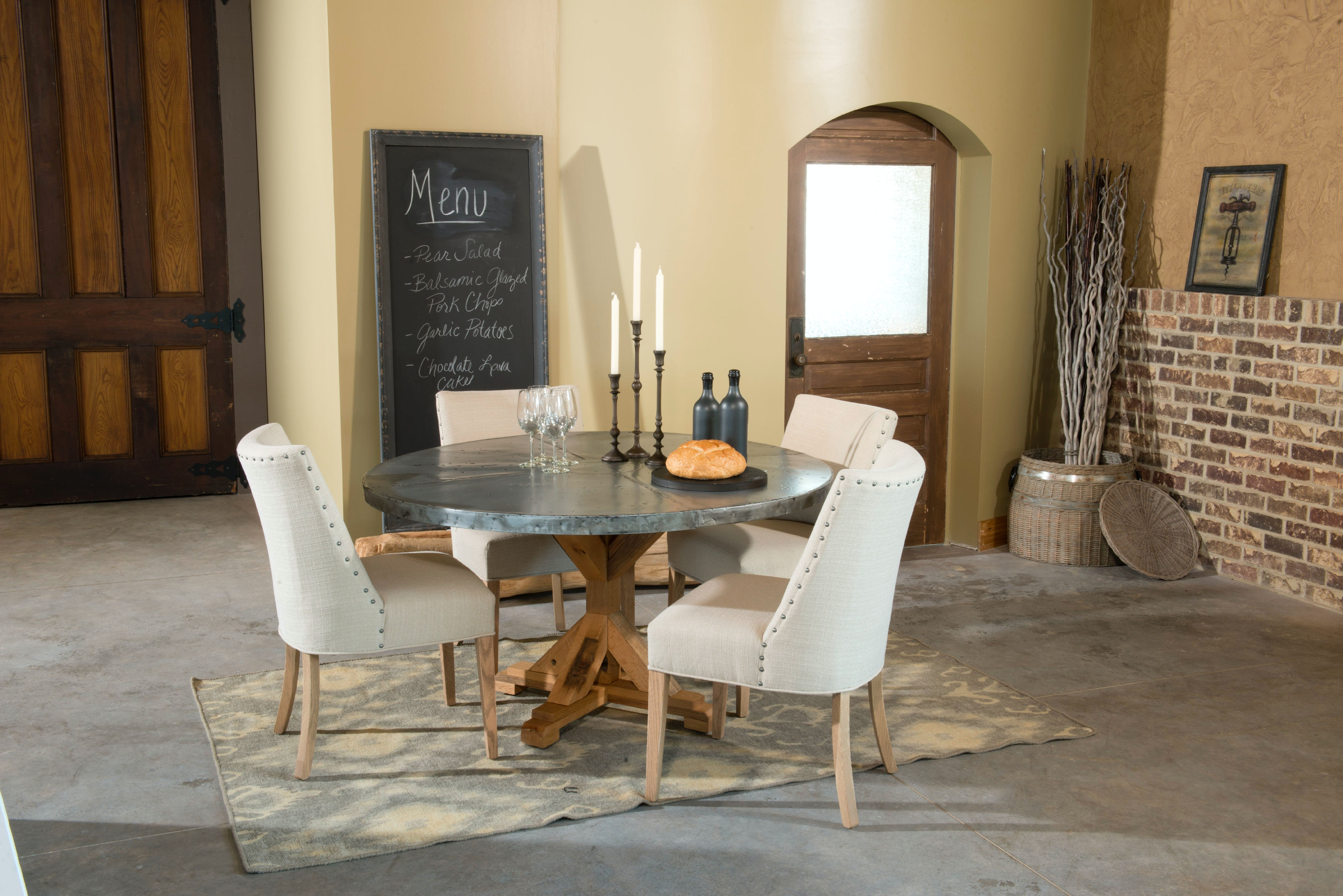 Palettes By Winesburg Round Zinc Table Top 4848ZI