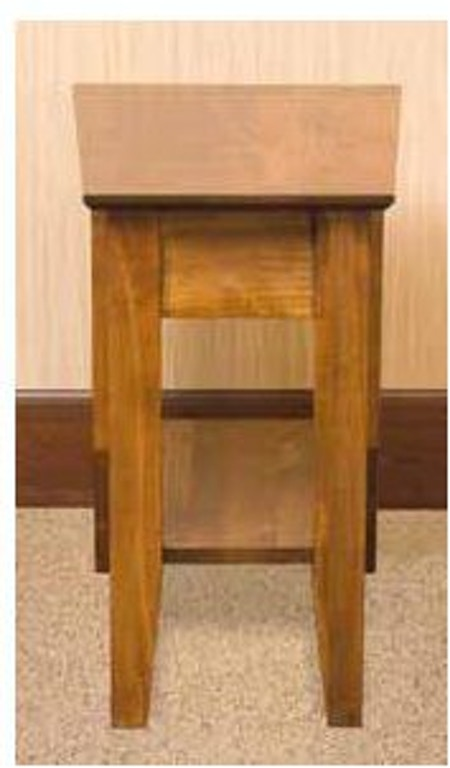Yutzy Woodworking Living Room Wedge End Table 1759 Warehouse Showrooms Northern Virginia