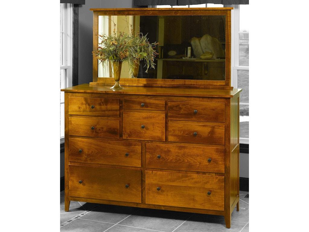 Yutzy Woodworking Bedroom Jamestown Square High Dresser 56004 Whitley Furniture Galleries