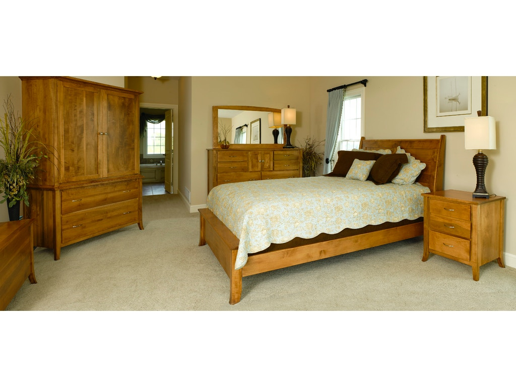 Yutzy woodworking bedroom ashville arch bed 34122 for Bedroom furniture raleigh nc