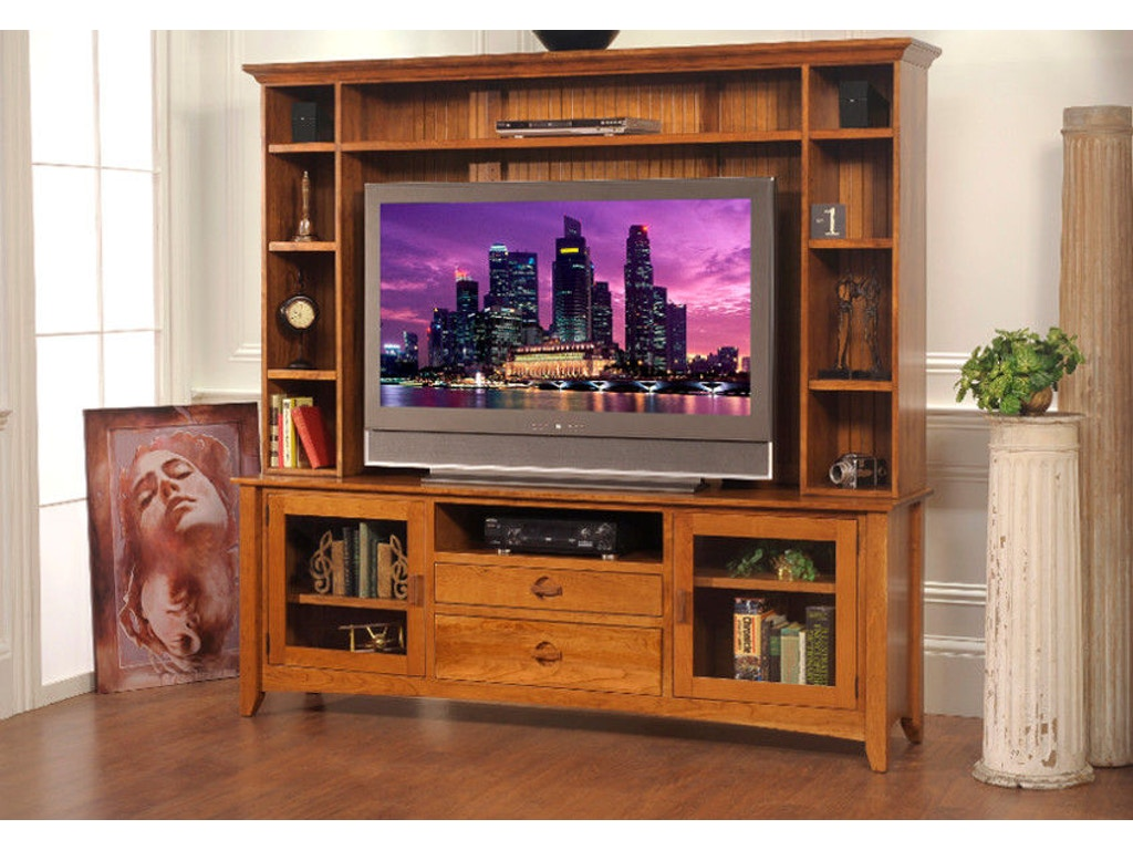 Yutzy Woodworking Home Entertainment Highlands Entertainment Console 3407 Whitley Furniture