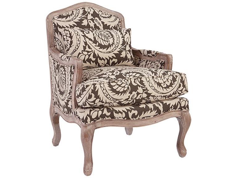 Craftmaster Chair 044910 Weathered Oak Finish