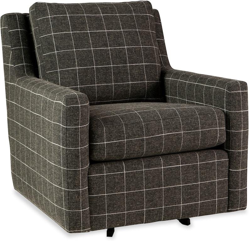 Craftmaster Living Room Swivel Chair 072610SC - Rider ...