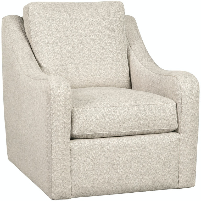 Craftmaster Living Room Swivel Chair 087710BDSC - Stacy Furniture ...