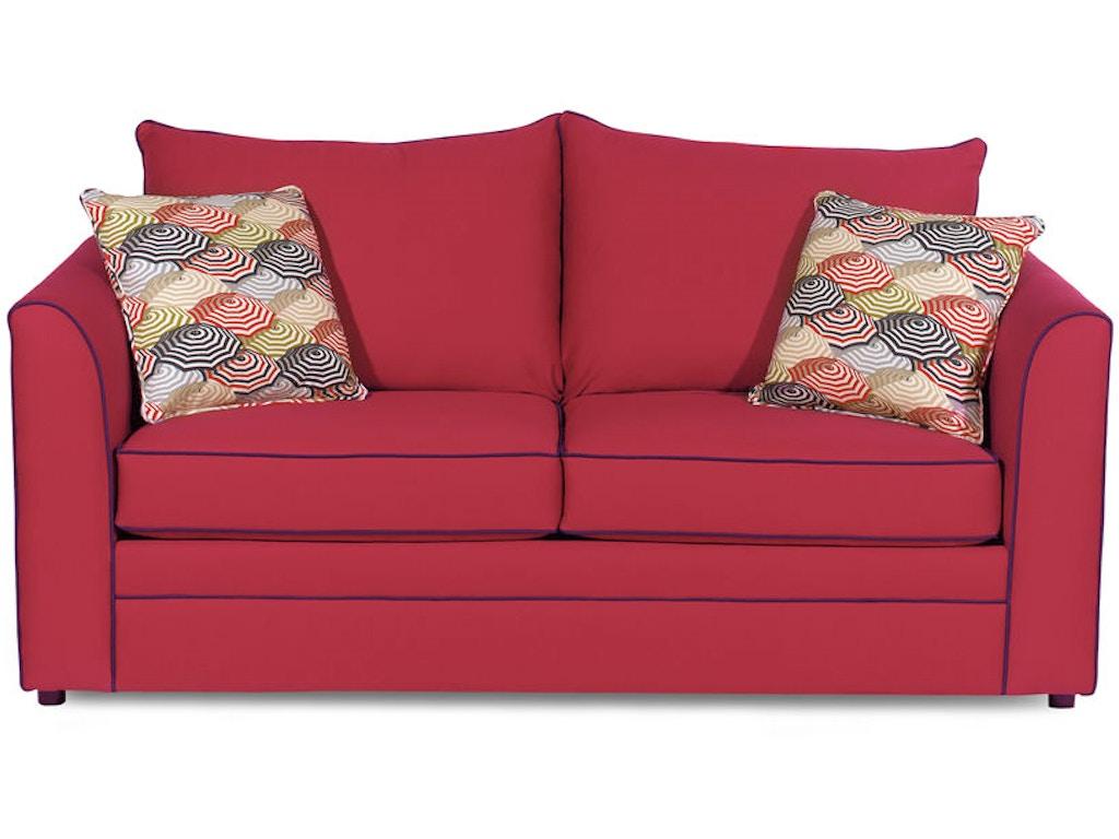 Craftmaster Living Room Two Cushion Sleeper Sofa 2420 60