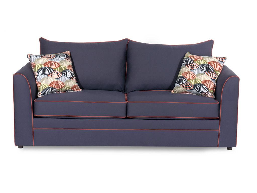 Craftmaster Living Room Two Cushion Queen Sleeper Sofa 242068