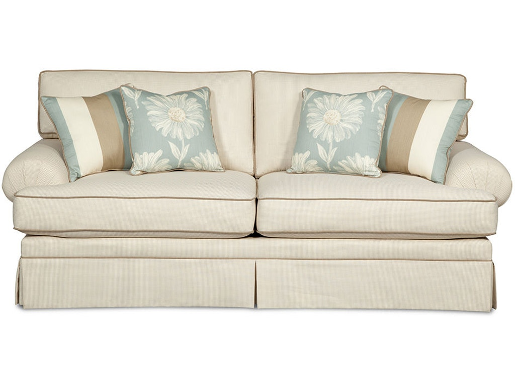 Craftmaster Living Room Two Cushion Queen Sleeper Sofa 4550 68 Gibson Furniture Andrews Nc