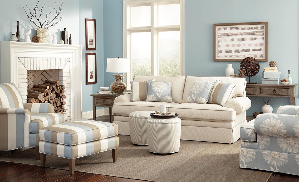 Craftmaster Living Room Two Cushion Queen Sleeper Sofa 455068