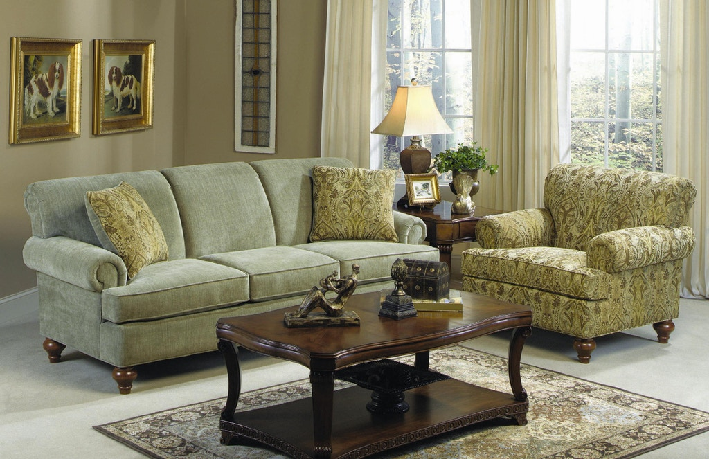 Craftmaster Living Room Three Cushion Sofa 704750 - CraftMaster ...