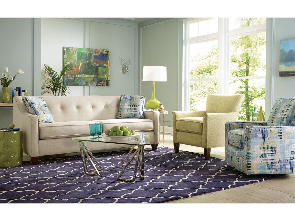 Craftmaster Living Room Two Cushion Sofa Tyndall