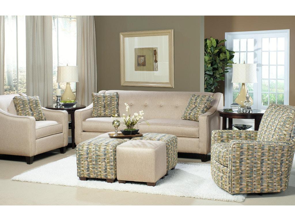 Craftmaster Living Room Two Cushion Sofa 706950 Sleeper