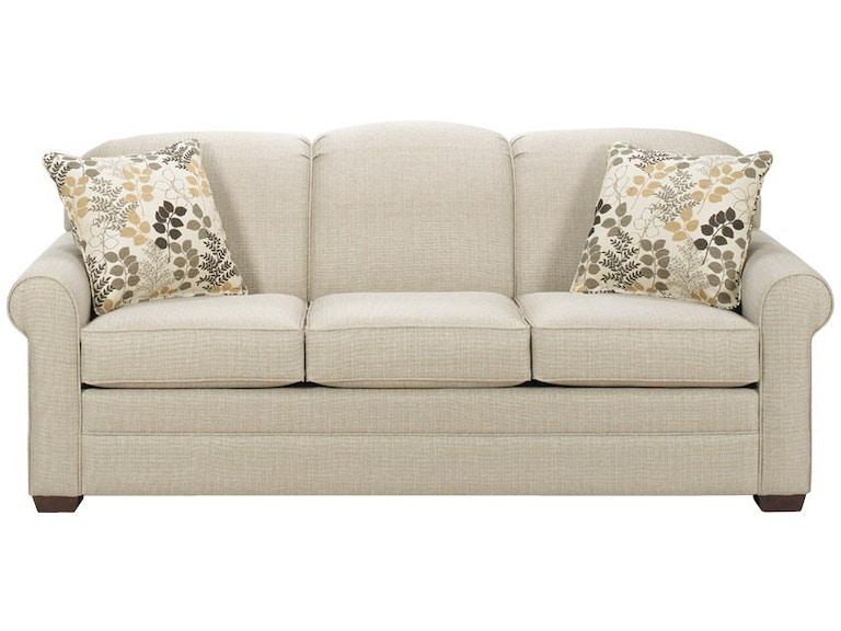 Craftmaster Living Room Three Cushion Sofa 718550 68